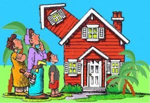 house POSTCARD