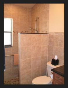Leading Edge Homes - Shower without doors.